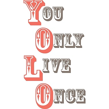 WALL POPS!® Wall Words, YOLO, 4 Stickers