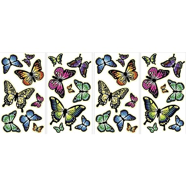 WALL POPS!® Glow in the Dark Wall, Butterflies , 32 Stickers