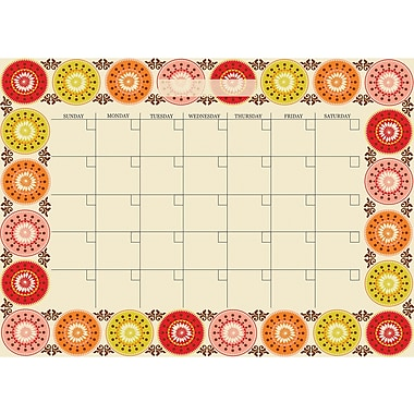 WALL POPS!® Dry-Erase Monthly Calendar, Carnivale, 13