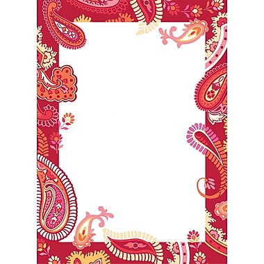 WALL POPS!® Dry-Erase Message Board, Paisley Red & Pink, 13