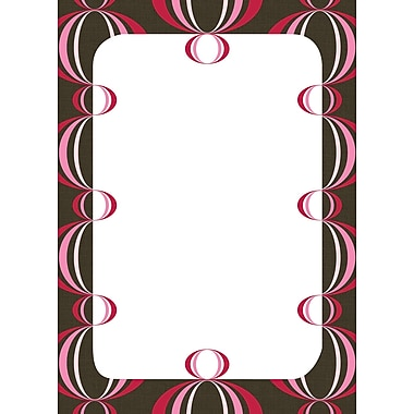 WALL POPS!MD – Tableau de messages à effacement sec, loupes rouge et rose, 13 x 17 3/4 po