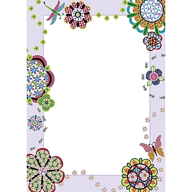 WALL POPS!MD – Tableau de messages à effacement sec, Flower Power, 13 x 17 3/4 po