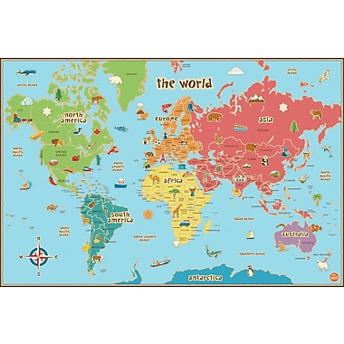 WALL POPS!® Dry-Erase World Kid's Map, 36
