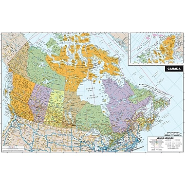 WALL POPS!® Dry-Erase Map of Canada, 36