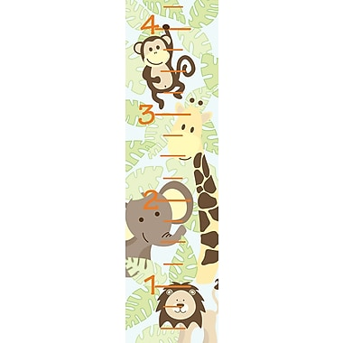 WALL POPS!® Growth Chart Sticker, Jungle Friends, 13