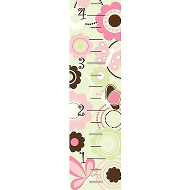 WALL POPS!® Growth Chart Sticker, Butterfly Garden, 13