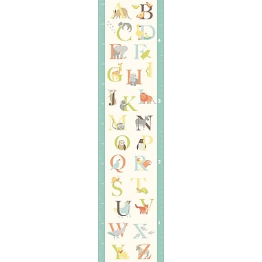 WALL POPS!® Growth Chart Sticker, Alphabet Zoo, 13