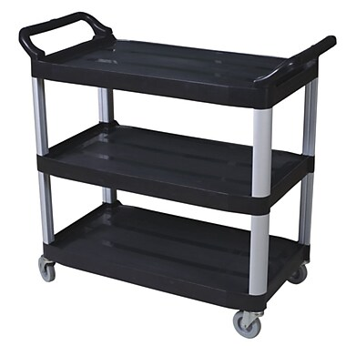 Duraplus Large Utility Cart, Open-Sided, 3 Shelves