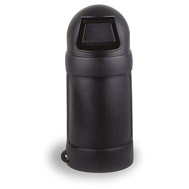 Continental Round Top Waste Receptacle, 68.04-Litre, Black