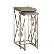 Monarch Plant Stand Chrome 2 Pcs Dark Taupe Reclaimed Look