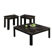 Monarch Table Set 3 Pcs Square Black / Grey