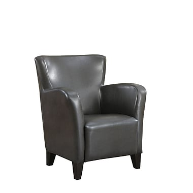 Monarch – Fauteuil club en similicuir, gris charbon