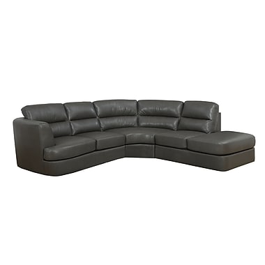 Monarch Bonded Leather Dark Gray