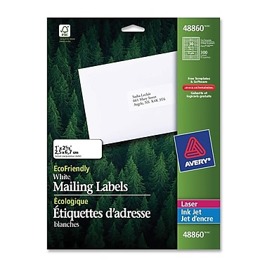 Avery® EcoFriendly Mailing Label, 1