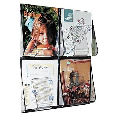 Deflect-o 4-Pocket Clear Literature Rack