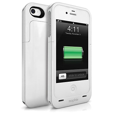 Mophie – Pile externe Juice Pack Air pour iPhone 4/4S, blanc
