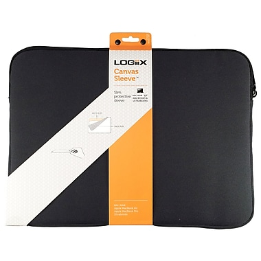 Logiix LGX-10694 Canvas Sleeve for MacBook/MacBook Pro 3, Black