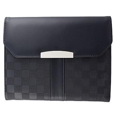 Bugatti Checkered Pattern Padfolio with Identity Block™, Black