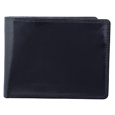 Bugatti Men's Vegetable Tanned Leather Wallet with Removable Billfold and Identity Block™, Black