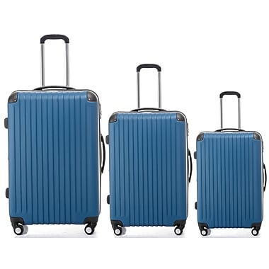 Champs 3-Piece Tourist Collection Hardside Spinner Set, Blue