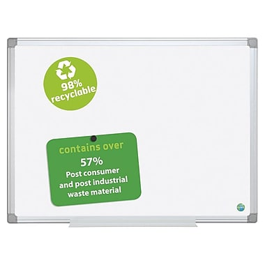 MasterVision Earth Magnetic Porcelain Enamel Dry Erase Board, Aluminum Frame, 48