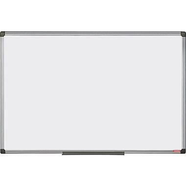 Staples Magnetic Porcelain Dry-Erase Board, Aluminum Frame, 47