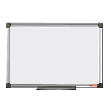 Staples® Melamine 2 Sided Dry-Erase Board, Aluminum Frame