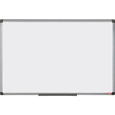 Staples Melamine 2 Sided Dry-Erase Board, Aluminum Frame, 47