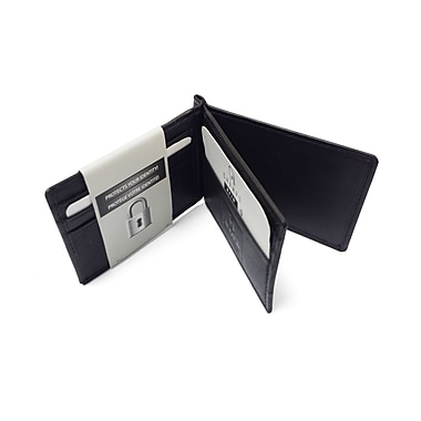 Champs RFID Cardholder with Moneyclip, Black