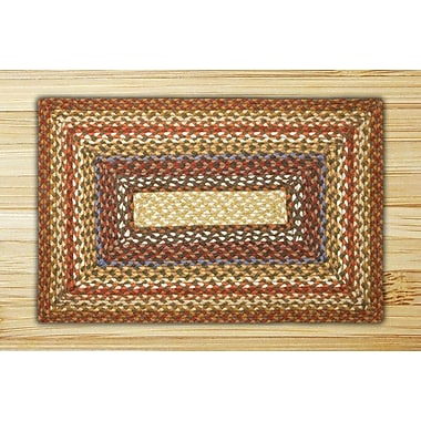 EarthRugs Honey/Vanilla/Ginger Braided Area Rug; 1'8'' x 2'6''