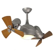 Matthews Fan Company 41'' Dagny 6 Blade Dual Ceiling Fan with Wall Remote; Brushed Nickel
