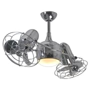 Matthews Fan Company 39'' Dagny 6 Blade Dual Ceiling Fan with Wall Remote; Polished Chrome