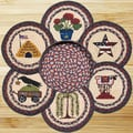EarthRugs 7 Piece Summer Trivets in a Basket Set