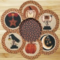 EarthRugs 7 Piece Autumn Trivets in a Basket Set