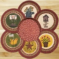 EarthRugs 7 Piece Spring Trivets in a Basket Set