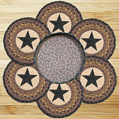 EarthRugs 7 Piece Star Trivets in a Basket Set