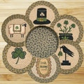 EarthRugs 7 Piece Irish Trivets in a Basket Set