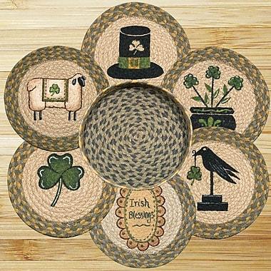 EarthRugs 7 Piece Irish Trivets in a Basket Set
