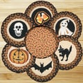 EarthRugs 7 Piece Halloween Trivets in a Basket Set