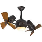 Matthews Fan Company 41'' Dagny 6 Blade Dual Ceiling Fan with Wall Remote; Textured Bronze