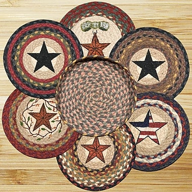 EarthRugs 7 Piece Mixed Stars Trivets in a Basket Set