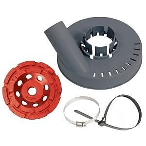 Dustless Technologies 5 Dustie Shroud and Diamond Cup Wheel Combo WYF078276139978