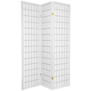 Oriental Furniture 70'' x 42'' Window Pane Shoji 3 Panel Room Divider; White