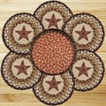 EarthRugs 7 Piece Barn Star Trivets in a Basket Set