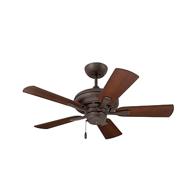 Emerson Fans 42'' Monterey 5 Blade Fan; Oil Rubbed Bronze with Dark Cherry and Walnut blad