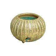 Emissary Ceramic Fluted Garden Hose Container