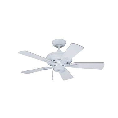 Emerson Fans 42'' Monterey 5 Blade Ceiling Fan; Satin White with Satin White and Maple Blades