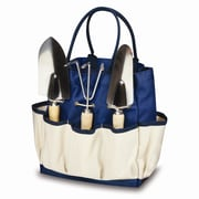 Picnic Time Large Garden Tote; Navy with Cream
