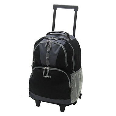 Olympia 18'' Rolling Backpack; Black