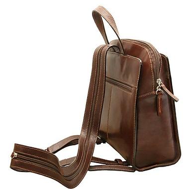 Tony Perotti Italico Napoli Zip Around Ladies Backpack; Brown
